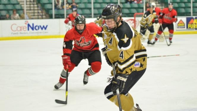 Tornado stave off Mustangs in a shootout, 5-4